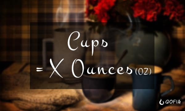 Cups Are In X Ounce oz